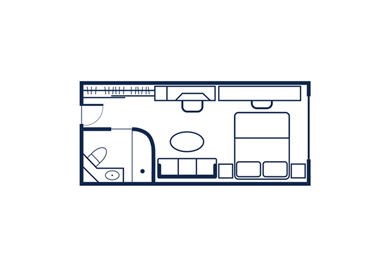 Yacht Club Stateroom 4 Layout